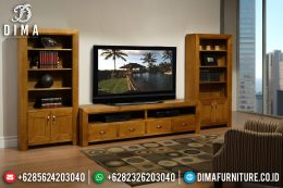 Set Bufet Tv Minimalis Jati Natural Terbaru SK-0182