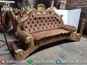 Desain Sofa Tamu Mewah 2 Dudukan Jackson Brown Fabric Turkish Best Quality New Product SK-0528