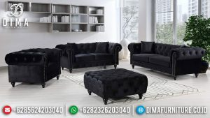 Inspiring Design Sofa Tamu Minimalis Chester Greatest Fabric Foam Mebel Jepara SK-380