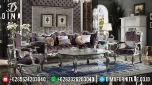 Magnificul Set Sofa Tamu Mewah Jepara New Silver Luster Luxury Color SK-0519