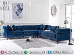 Model Sofa Tamu Sudut Minimalis Great Jati Luxury Retro Vintage Jepara SK-0470