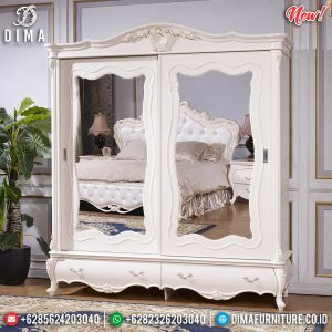 New Lemari Pakaian Mewah Sliding Design Luxury Art Deco Furniture Jepara SK-0499