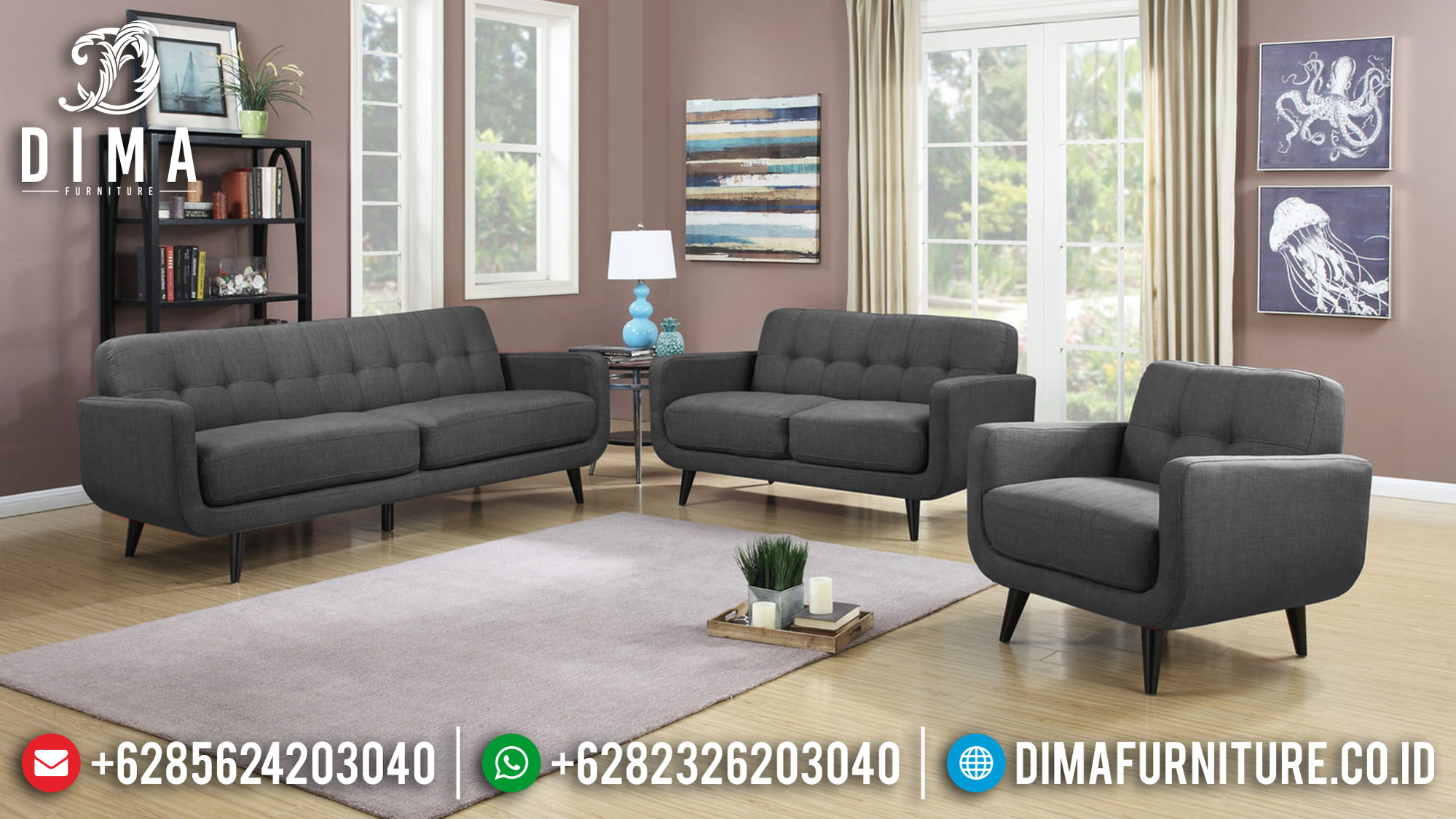 New Sale Sofa Tamu Minimalis Jepara Natural Jati Simple Design Inspiring SK-374