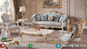 New Sofa Tamu Mewah Ukiran Luxury Classic Golden Combination Art Deco Color SK-0518