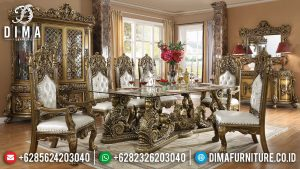 Pre Order Now Meja Makan Mewah Luxury Carving New Furniture Jepara Item SK-0434