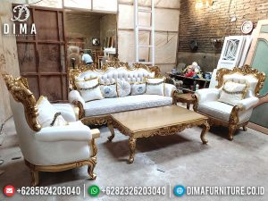 Quarella Set Sofa Tamu Mewah Jepara Luxy Carving Best Design New Golden Gloss Color SK-0527