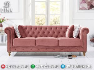 Sofa Tamu Chesterfield Beauty Pinky Style New Years Update Best Seller SK-466