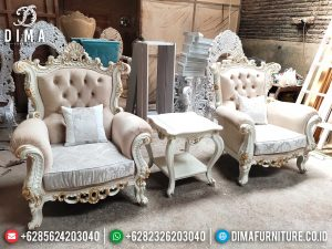 Sofa Tamu Mewah Single Seater Luxury Classic Best Seller Product Mebel Jepara SK-0517