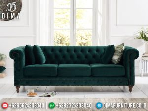 Sofa Tamu Minimalis Chesterfield New Set Living Room Furniture Jepara SK-465