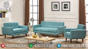 Sofa Tamu Minimalis Modern New Design French Retro Natural Jati SK-373