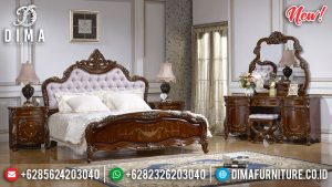 Years End Sale Kamar Set Mewah Ukiran Klasik Natural Jati Luxury Jepara SK-0359