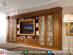 Elegant Set Bufet TV Mewah Jati Ukiran Luxury Classic Best Wood Quality SK-0532