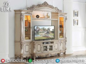 Jual Bufet TV Mewah Luxury Carving Furniture Jepara New Release SK-0539